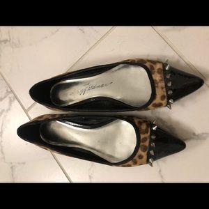 Shoes - B Feldman Cheetah Print Flats